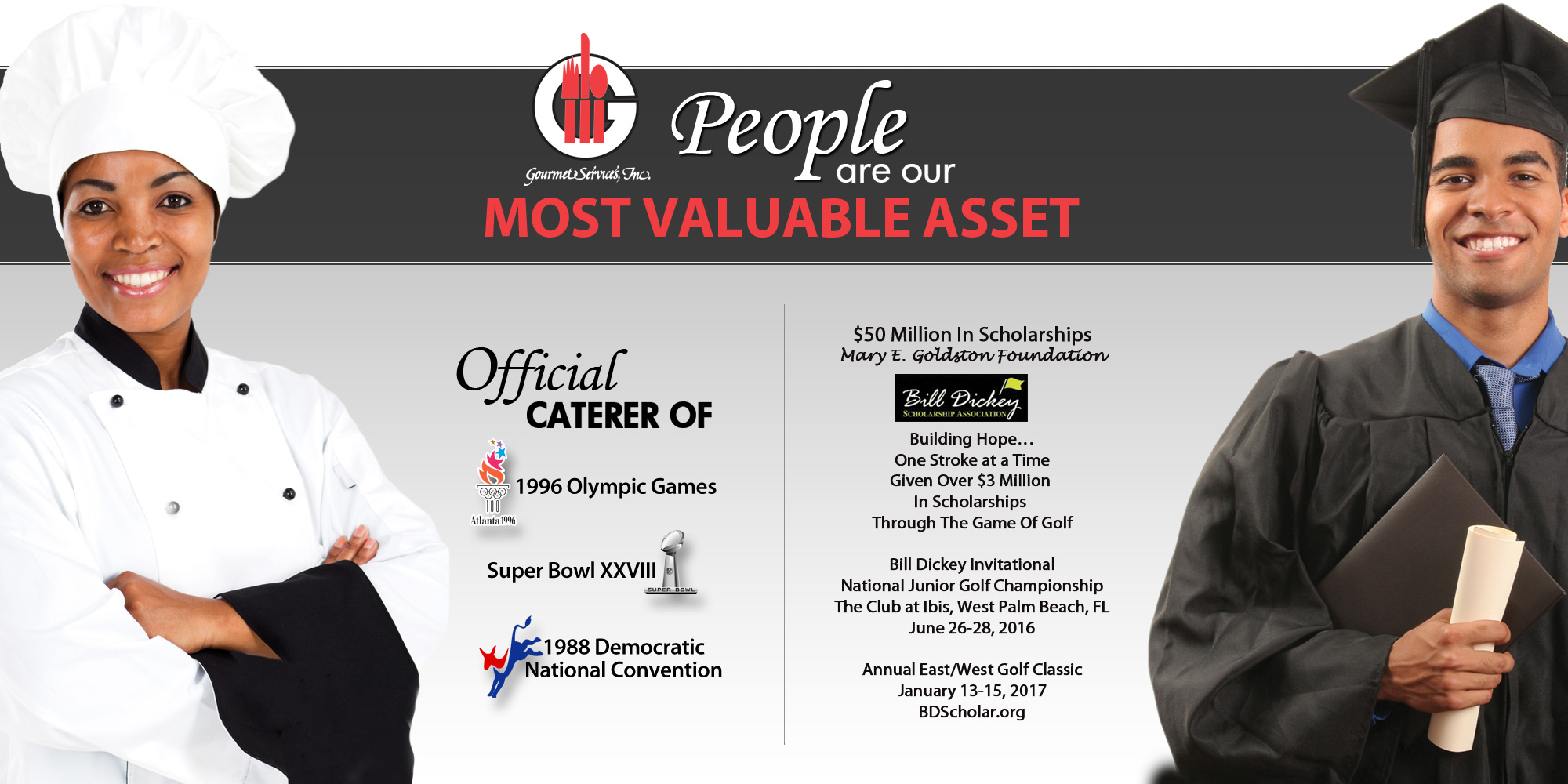 people are our most valuable asset at Gourmet Services